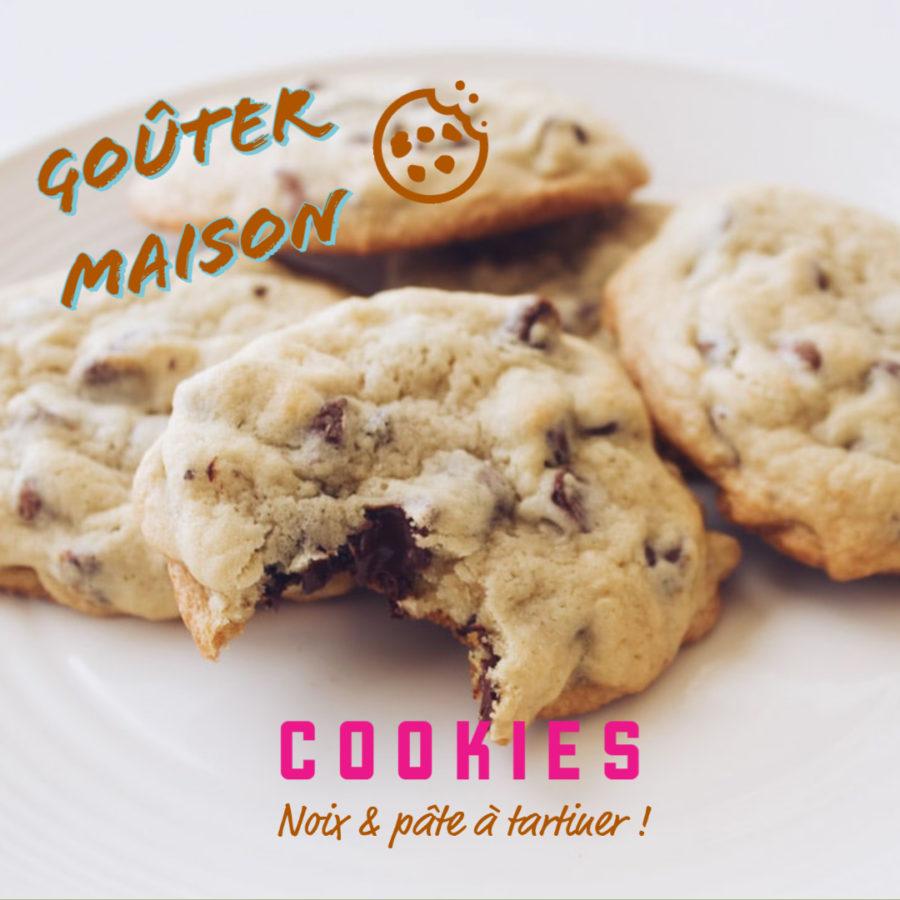 Cookies noix & pâte à tartiner pour le goûter !