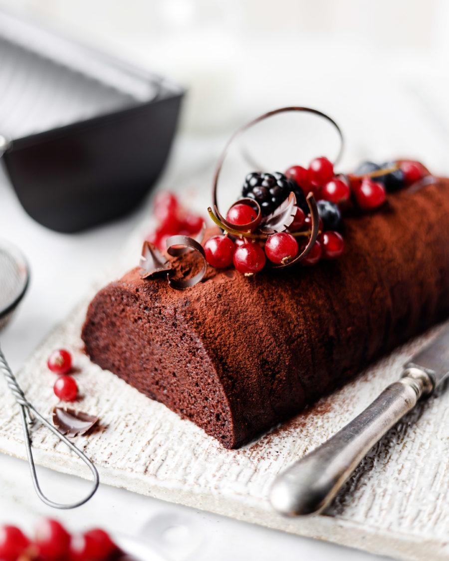 Originale & facile, la bûche de Noël chocolat/pain d'épices