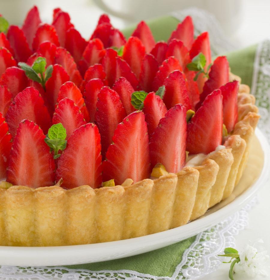 Délicieuse & intemporelle tarte aux fraises…