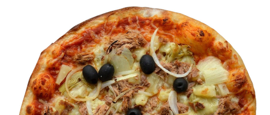 Pizza végétarienne thon & artichauts